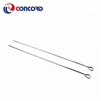 Stainless Steel  Grilling Kabob Skewers Stainless Steel Needles Barbecue Roasting Sticks with Round Hanger