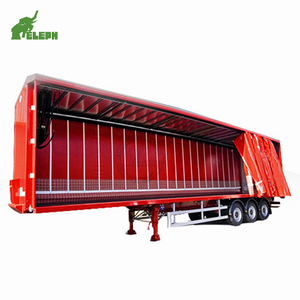 van truck enclosed box cargo transport PVc tarpaulin sliding 45ft 40ft curtain side semi trailer for sale