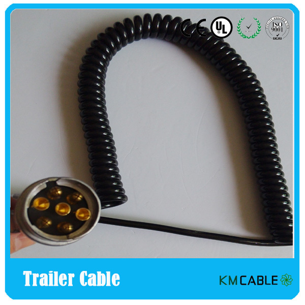 6 wire coiled trailer wiring harness 6 wire cable wiring