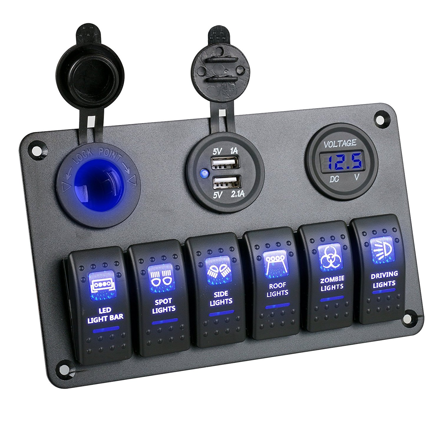 Cheap Circuit Voltmeter Find Deals On Line At Digital Get Quotations Gogolo Waterproof 12 24v Car Boat Racer Marine Led Rocker Switch Panel