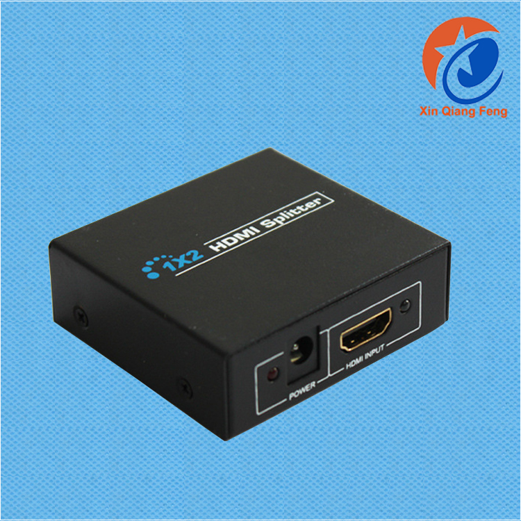 High speed 1080P 3D 1X2 vedio splitter 2 port hdmi splitter 1.4a with EU plug