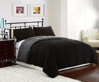 alternative down duvet reversible microfiber fabric comforter/quilt