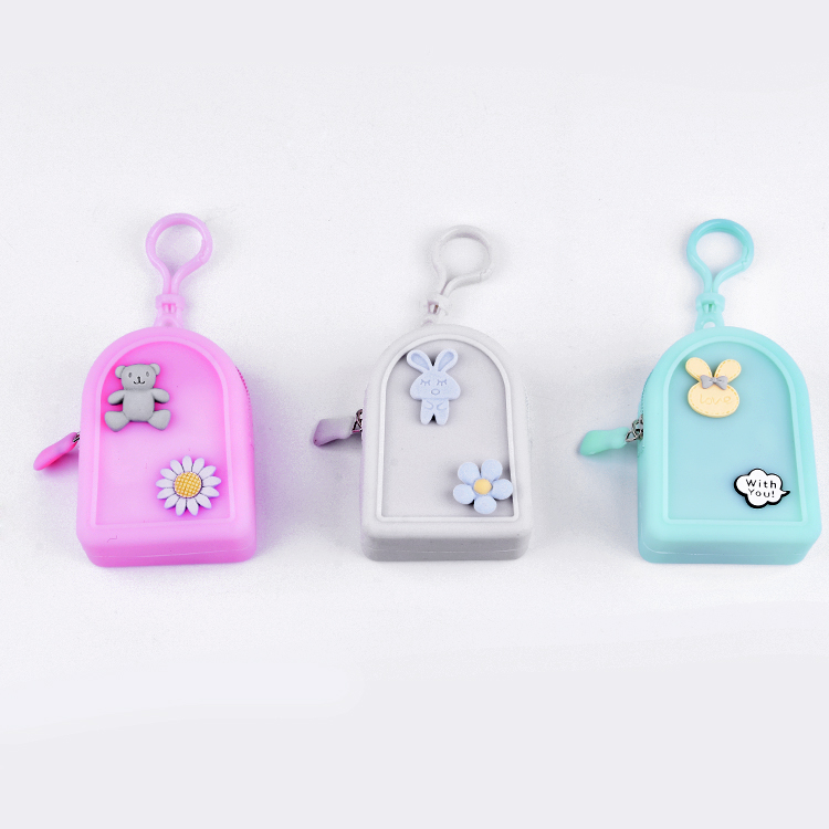 Multi Pattern Cute Silicone Jelly Color Mini Bag Coin Purse For Girls