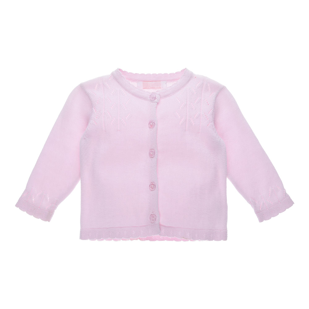 Wholesale Fashion Pink Stock Toddler Cardigan Sweater For Baby Girls