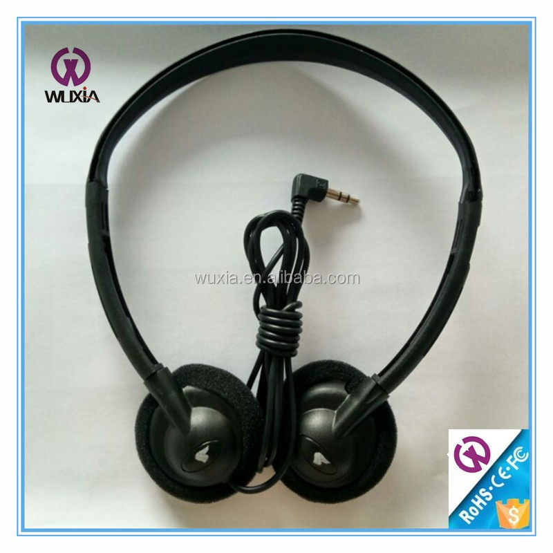 3.5mm Plug Connect Language Lab Headphone for Airline