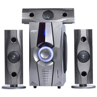 Newest Arrival 3.1 Home Sound Speaker Home Theatre Speaker System 6.5 ' Subwoofer Wooden Speaker with MP3 / 5 funtion