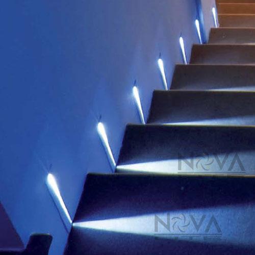 Ac100v To 240v Input 12pcs Blade Step Light White Led Recessed Stair Stread Lighting Narrow