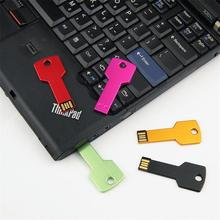 Metal Key USB Flash Memory Stick Pendrives 1GB 2GB 4GB 8GB Logo Custom Personalized Mini USB 2.0 Flash Drive
