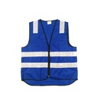 china polyester traffic road safety warning reflective blue safety vest fabric