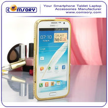 for Samsung Galaxy Note II N7100 Diamond Luxury Crystal Bling Aluminum Metal Bumper Phone Case