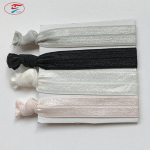 Custom Cheap Elastic Nylon Spandex Fancy Hair Ties for Human