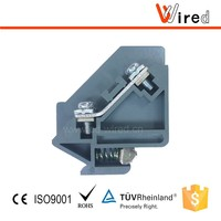 Promotional PC electrical terminal block 2.5mm2 WJH5B-2.5 terminal row snap on G type din rail