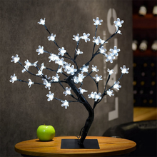 Artificial Indoor 45CM 48Led Cherry Blossom Tree Christmas Lights Table Lamp Night Light