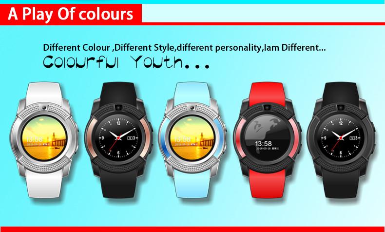 2017 new bluetooth gsm wrist smart watch mobile phone v8. Black Bedroom Furniture Sets. Home Design Ideas