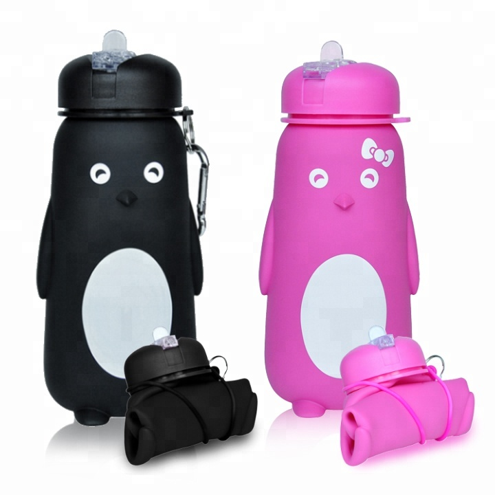 Leakproof Novelty Silicone Kids Children Water <strong>Bottle</strong> For Drinks