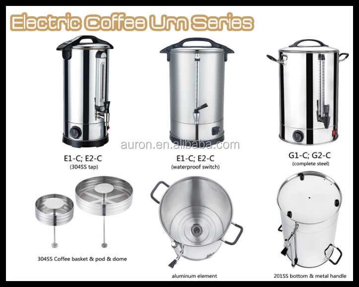 30~180cups Commercial Coffee Maker/complete Stainless