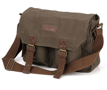 Men's Canvas Leather DSLR Vintage Camera Messenger Bag