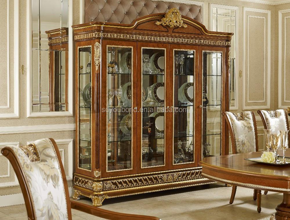 2015 0062 Italian Classic Antique Living Room Display Showcase ...
