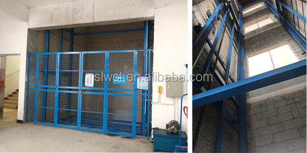 1000 kg Hydraulique Guangzhou Construction Industrielle Ascenseur De Meubles