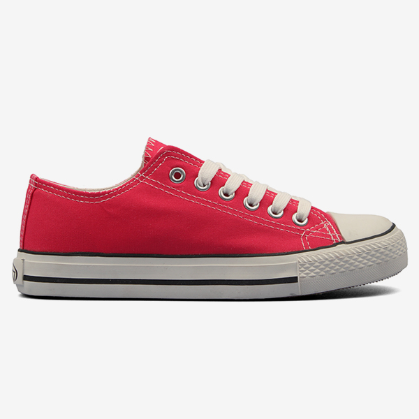 Cheap Red Canvas Women Shoes