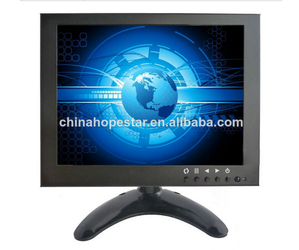 "Metal case 8"" cctv lcd monitor for monitoring system"