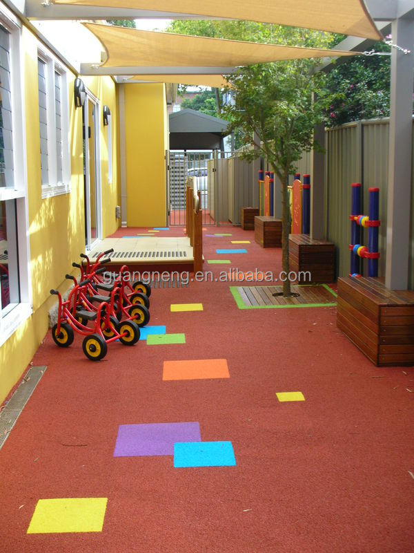 non-toxic red playground kids rubber bricks