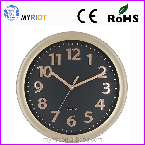 Plastic 12 inch 30 cm hotel decoration simple design world time clock