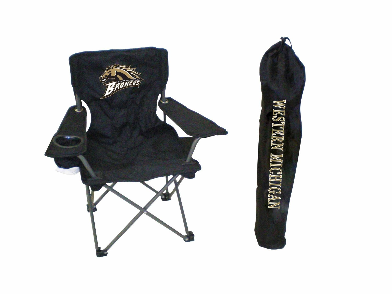 Rivalry NCAA Western Michigan Broncos Youth Folding Chair With Carrying Case