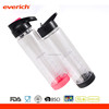 2017 BPA free wholesale 750ml 1 gallon plastic bottle with straw lid for sports