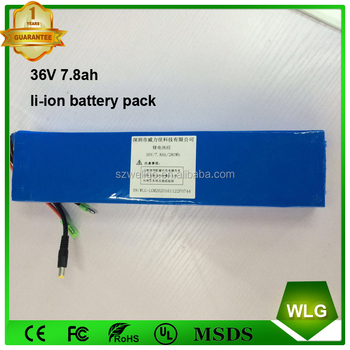 10S3P 36 V 7.8ah ebike Electric Bike Bicycle Li-ion 18650 battery Pack With BMS