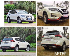 Car Tuning Body Kit for Nissan X-trail 2017 Up Car bumper guard protection kit made of PP