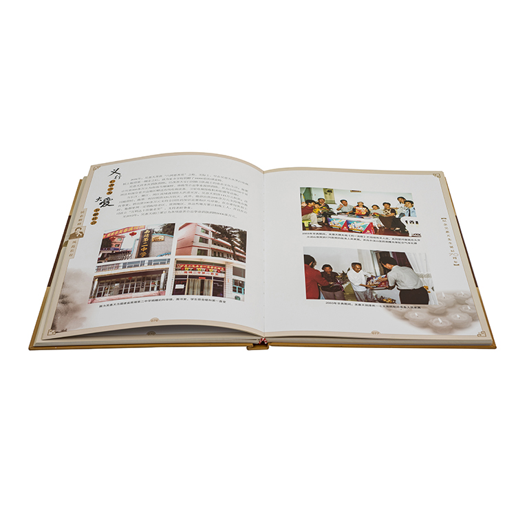 Personalized nice quality high end thread stitching hardcover book color printing
