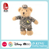 China 2015 cool brown army teddy bear plush toys for kids new designed AZO free safe material