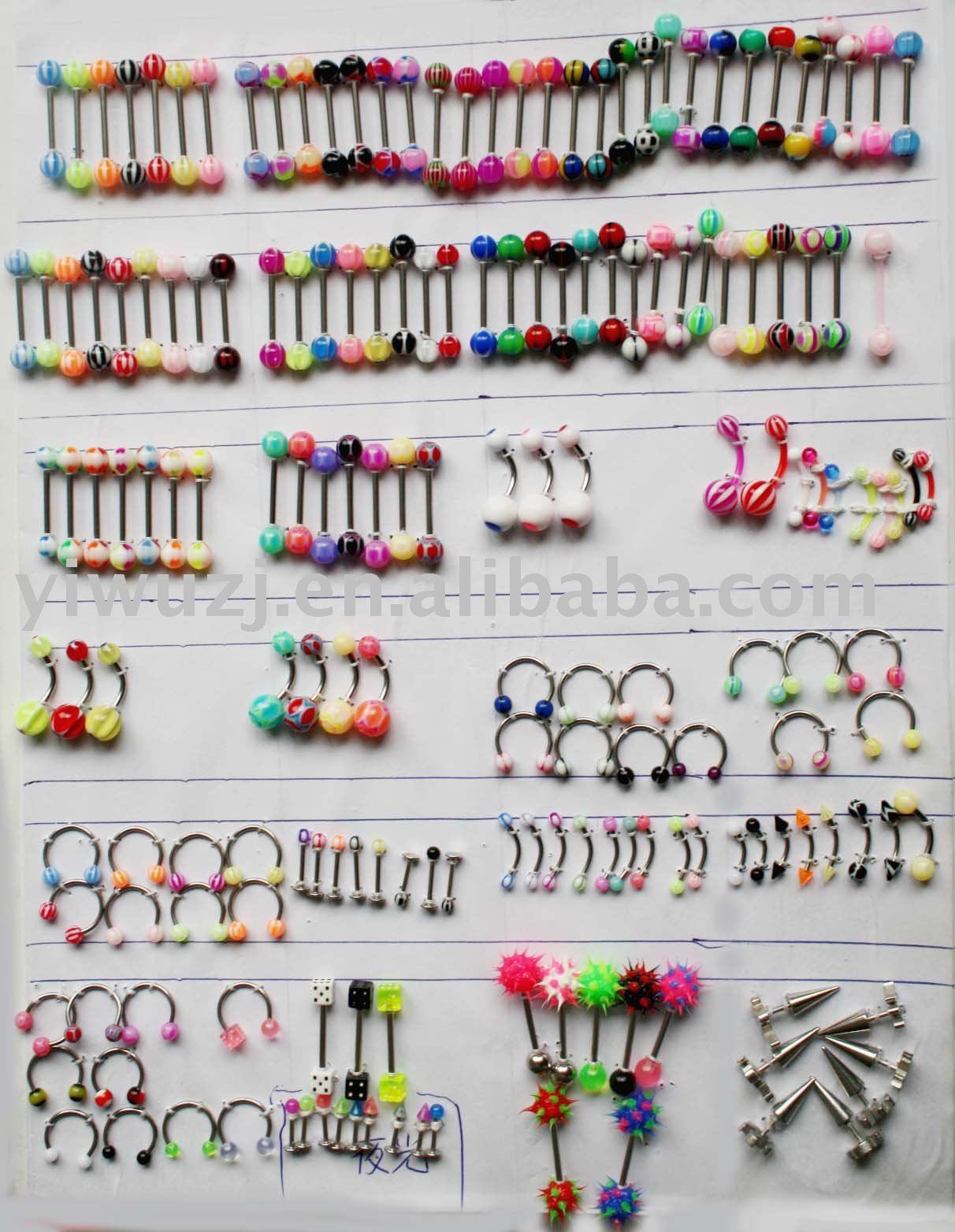 many kind of top body piercing jewelry