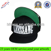 Wholesale Custom Hip Hop Green Underbrim Snapback Hat / High Quality Snapback Hat Embroidery Logo