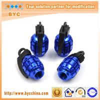BYC Grenades Blue Car Tire Valve Parts