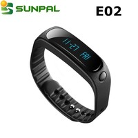 hot selling fitness smart band E02 compatible with ios 0.84 inch OLED smart ring bluetooth bracelet in Mobile phone accessories
