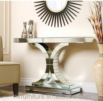 Beautiful Living Empire Mirrored Console Table/Sofa Table