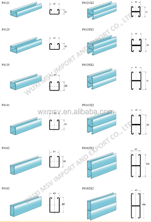 Stainless Steel C Channel Sizes U Channel Stainless Steel