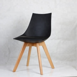 New fashion design Tulip chair with cushion with wood legs for master home furniture