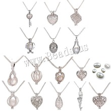wholesale different styles natural freshwater pearl cage pendant
