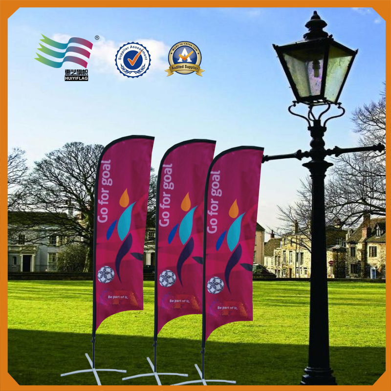 different height feather flag pole with feather flag banners
