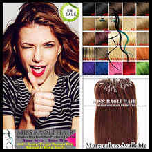 2017 Best Selling 100% Remy Human Hair Wholesale Factory Price 1g Strand Double Beads Micro Ring Hair Extensions
