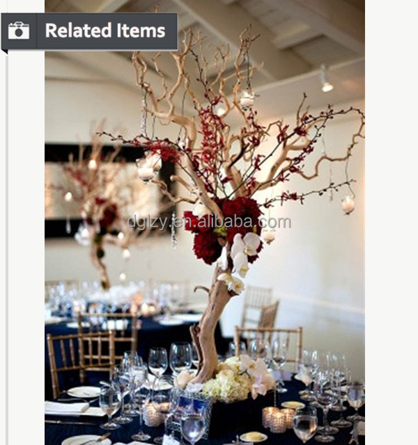 Popular Wedding Centerpieces Table Tree Artificial Without Leaves Made In China