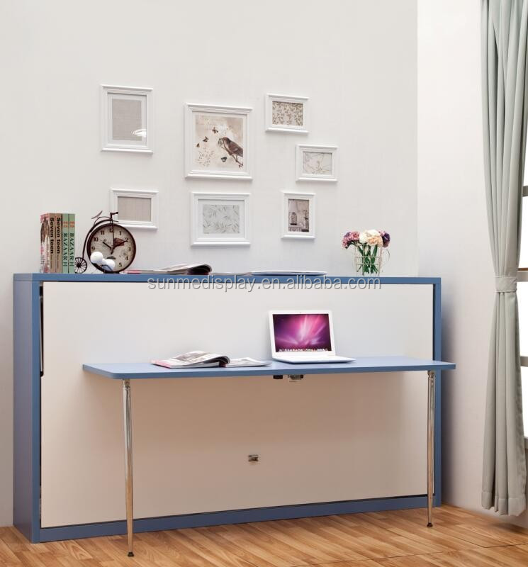 horizontal wall bed with desk bedroom furniture folding wall bed mk09