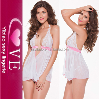6733a2acd Ex-Factory Price Women White Sexy Lace Babydoll Open Front One Sexy Night Lingerie  Babydoll