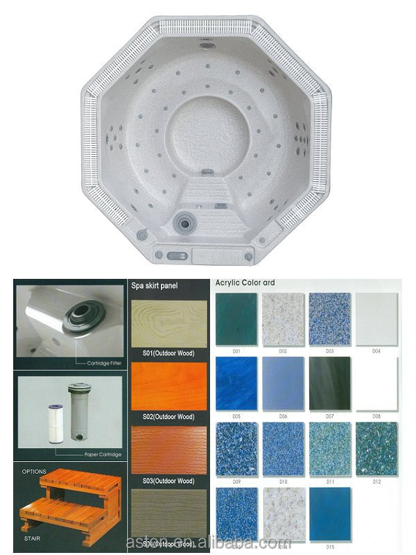 Octogonal, bañera de hidromasaje, balboa jacuzzi, plástico bañera ...