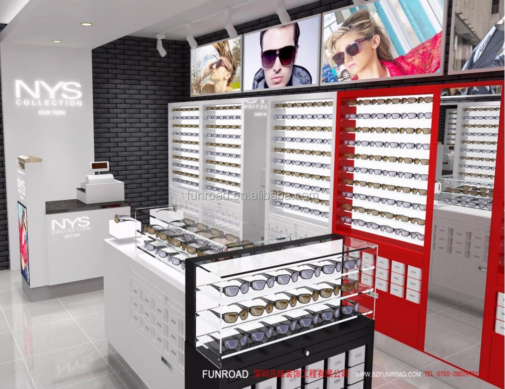a6d7e44be3 Item Name. Shenzhen factory customized NYS sunglasses display cabinet and  counter for optical store design