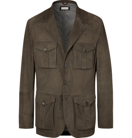 Slim-Fit Suede for men new design fashion Jacket