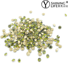 olivine rhinestone crystal loose glass chaton